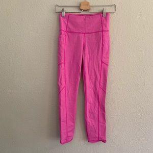 Athleta Pink Stripe Leggings Sz XS